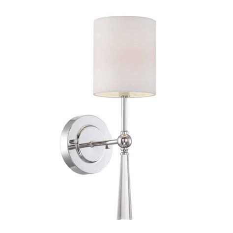 Chrome Wall Sconce Cordelia Lighting 1 Light Chrome Wall Sconce 15015 07 The Home Depot Oregonuforeview