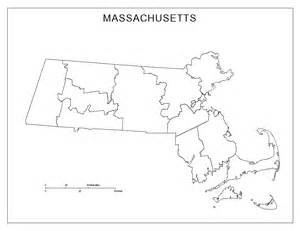 Blank Map by Massachusetts Blank Map