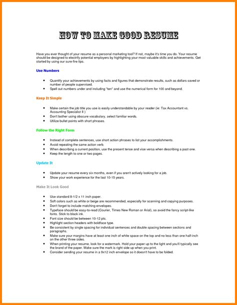how to write a work resume 8 how to do a resume for a step by step resume type