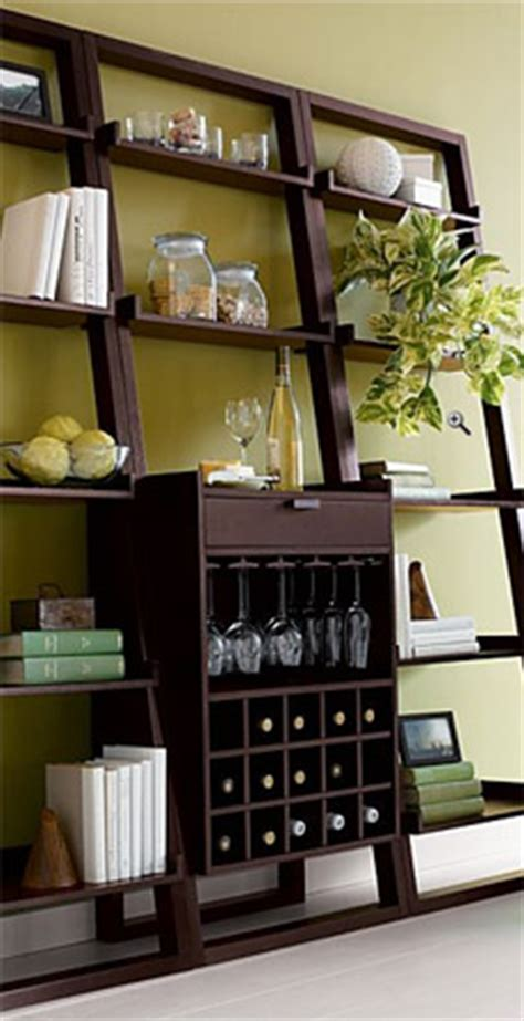 leaning wine bar bookcase set sloane leaning wine bar and bookcase set gearculture