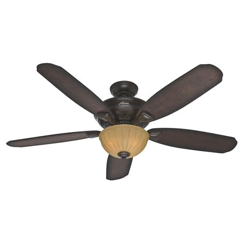hunter 52 onyx bengal bronze ceiling fan shop hunter markley 56 in onyx bengal bronze downrod or