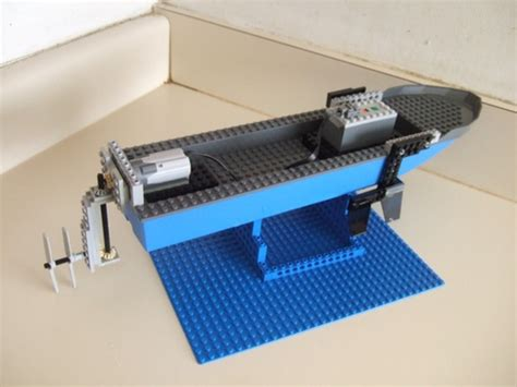 lego electric boat motor working electric motor boat a lego 174 creation by walter