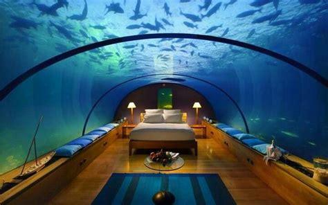 Undersea Bedroom by Coral World Park Underwater Resort Hotel In Palawan