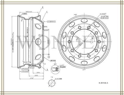 wheel dimensions diagram 8 25 22 5 tubeless steel agricultural wheel buy