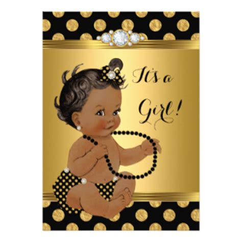 And Black Baby Shower Invitations by Pearl Baby Shower Invitations Announcements Zazzle