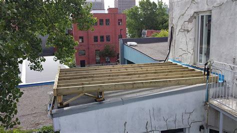 terrasse auf garage terrace garage roof construction construction