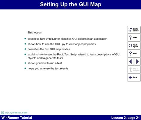 html tutorial lesson 2 winrunner 7 0 tutorial lesson 2 setting up the gui map