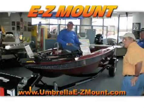 bass pro boat umbrella anglers pro tackle presents new umbrella e z mount