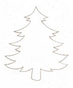 Christmas tree outline blank best photos of christmas tree drawing