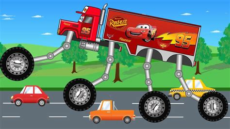 video truck monster big mcqueen truck monster trucks for children kids