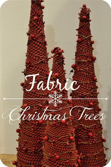 diy fabric christmas trees simple holiday decor
