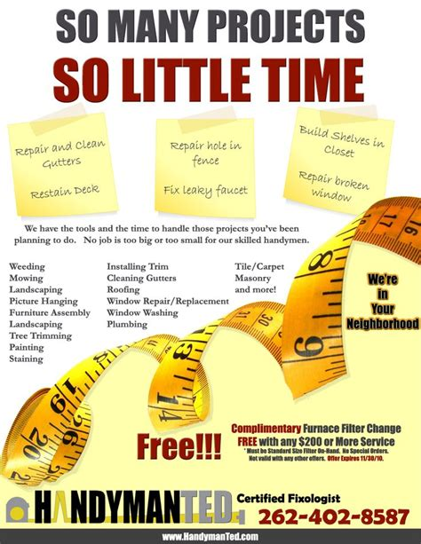 free templates for handyman flyers handyman ted flyer info pinterest flyers