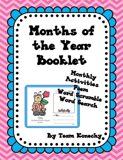 How Many Search On Each Day This Months Of The Year Booklet Contains Activities For