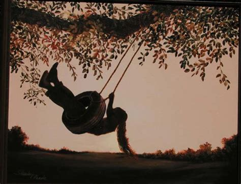girl on swing painting painting of girl swinging the tire swing paintings of
