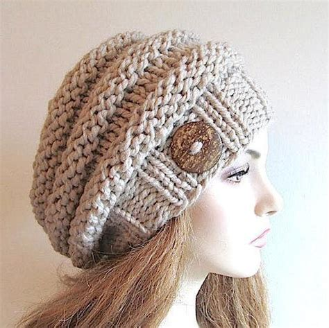 hat pattern bulky yarn knit bulky slouch beanie beret beehive hat craftsy