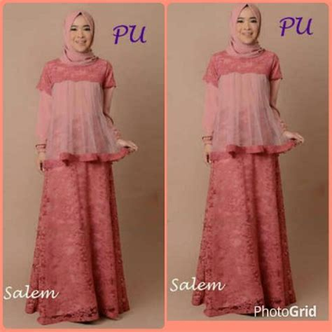 Baju Gamis Atas Brokat baju gamis pesta a262 brokat resya busana muslim modern