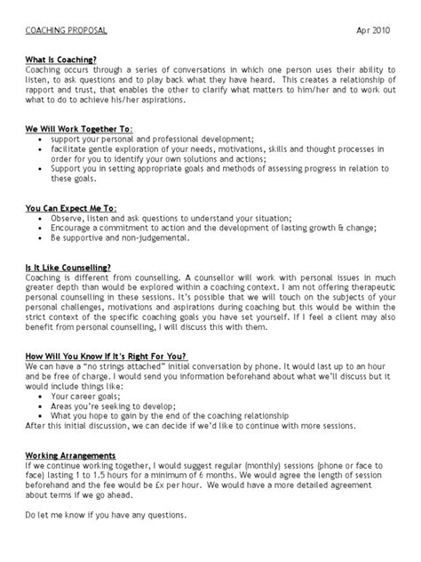 proposal professional development proposal template