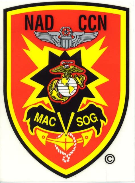 marines usmc mac v sog decal north bay listings