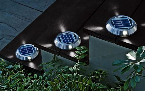 solar deck lighting solar deck lights the green