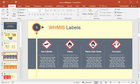 whmis labels template animated whmis powerpoint template