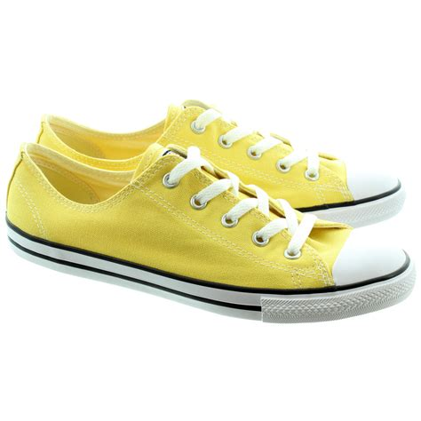 yellow shoes converse chuck allstar dainty ox shoes in yellow in