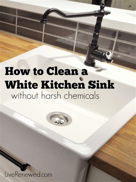 How To Clean The Kitchen Sink How To Clean A White Kitchen Sink Without Harsh Chemicals
