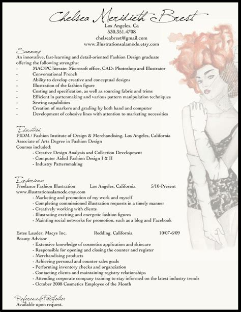 fashion resume templates best 25 fashion resume ideas on fashion