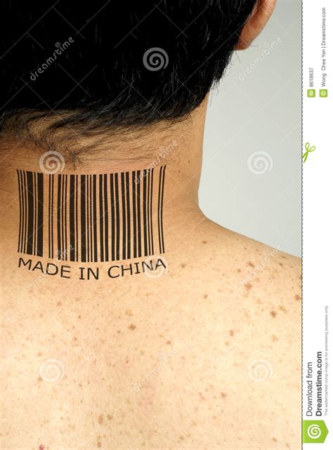 made in china tattoo made in china royalty free stock photography