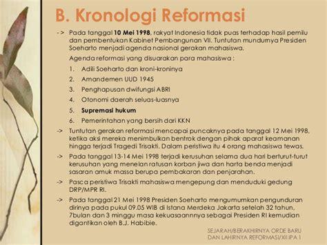 Adili Soeharto 1 berakhirnya orde baru dan lahirnya reformasi