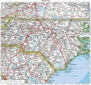 road map of carolina and south carolina thumbsplus image directory