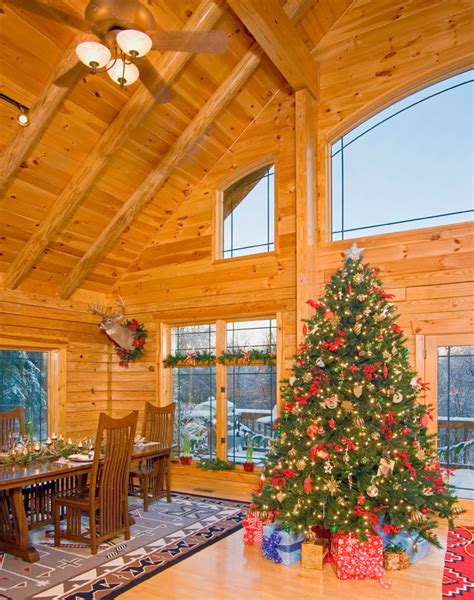 Beautifully Decorated Christmas Homes by Welcome To Holiday Decorating Season 171 Real Log Style