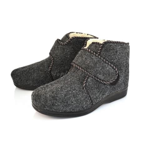 next mens slipper boots buy s s sheepskin and felt slippers boots