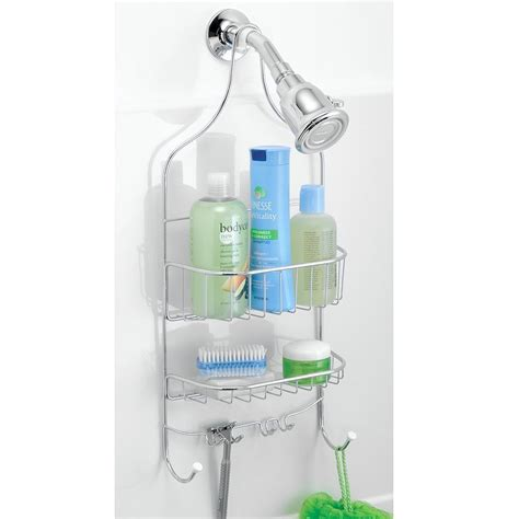 Bathroom Shower Organizers Chrome Shower Caddy Shelf Storage Organizer Bathroom Accessory Rack Holder Ebay