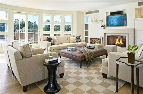 decorating large living rooms four tricks to make your home more comfortable