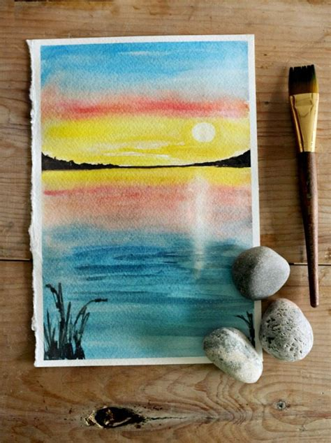 tutorial watercolor sunset how to paint a sunset with watercolor