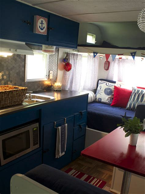 Trailer Decorating Ideas by Vintage Cer Makeover Travel Trailer Decorating Ideas