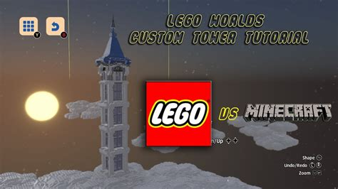 tutorial lego worlds lego worlds review and custom tower tutorial youtube
