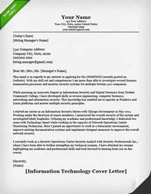 cover letter for it information technology it cover letter resume genius
