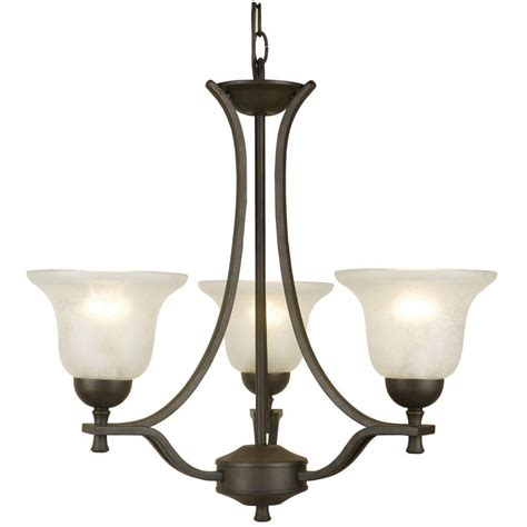 design house lighting products design house ironwood 3 light statuary bronze chandelier 509190 the home depot