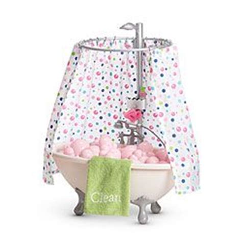 american girl doll bathtub american girl 174 furniture bubble bathtub shower tub 18