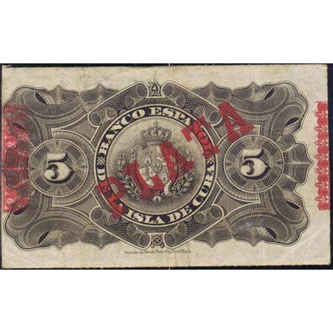 comprar lingotes de oro banco de espa a cuba 5 pesos 1896 banco espa 241 ol isla de cuba mbc tienda