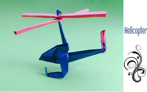 How To Make Helicopter Out Of Paper - origami paper tutorial helicopter ह ल क प टर