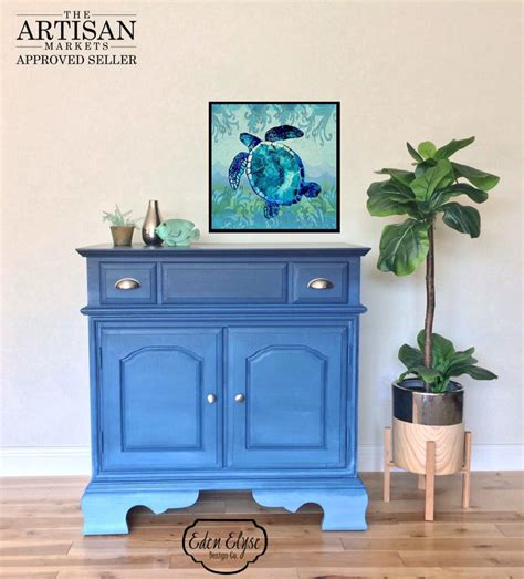 shades of blue ombre chest of drawers dresser changing ombre dresser in shades of coastal blue general finishes