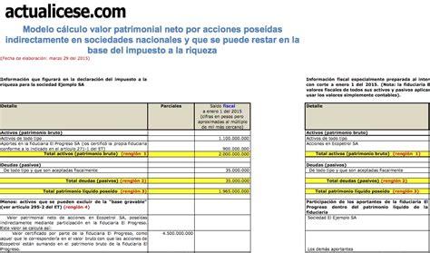 calculo de impuesto a la riqueza 2016 colombia impuesto a la riqueza modelos y formatos