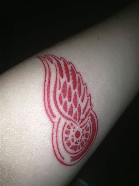 red wings tattoo detroit wings hockey redwings hockey