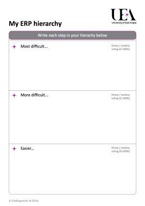 ocd worksheets ocd worksheets calleveryonedaveday