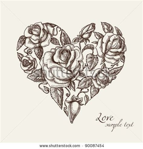 rose shaped heart tattoo 17 best ideas about vintage tattoos on