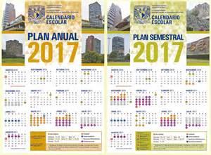 Calendario Escolar Unam Calendario General Unam 2017