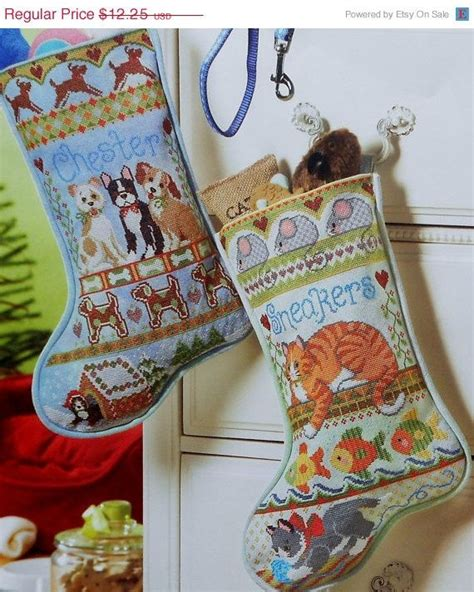 pattern for dog christmas stocking cat dog puppy and kitty kitten heirloom christmas