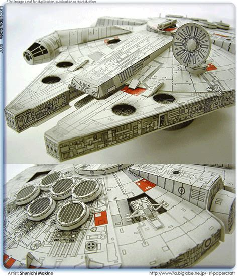 Millenium Falcon Papercraft - papercraft millennium falcon vectorvault your